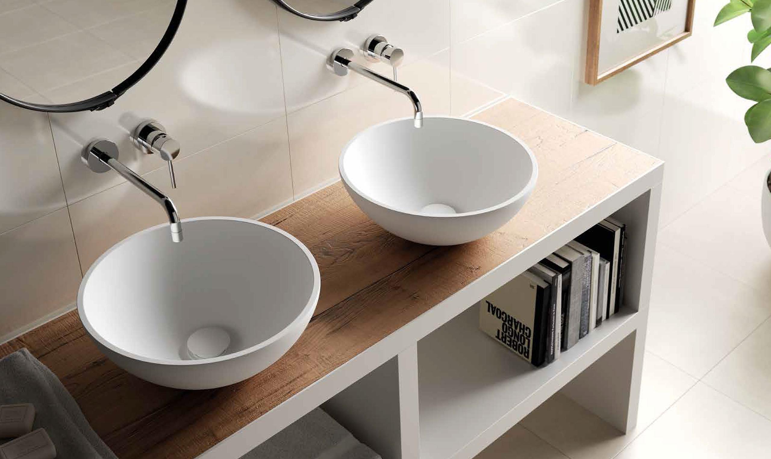 Solid surface waskom ovaal rvs regendouches rvs keukenkraan