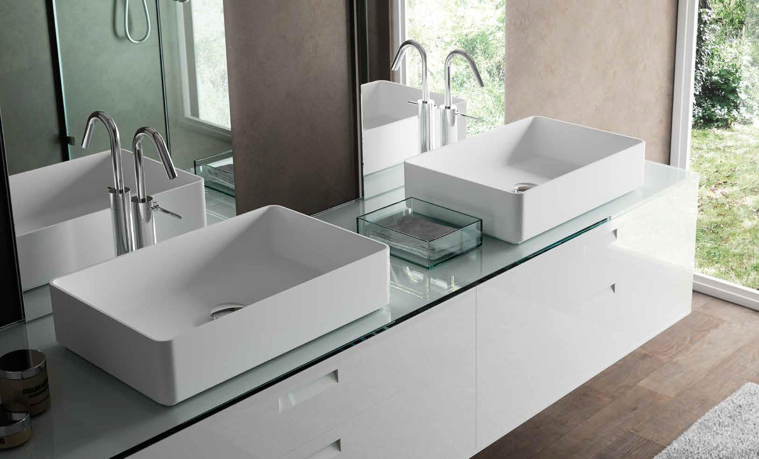 Meglio home sanitair wastafels wasbakken fonteinen badkamer meubilair