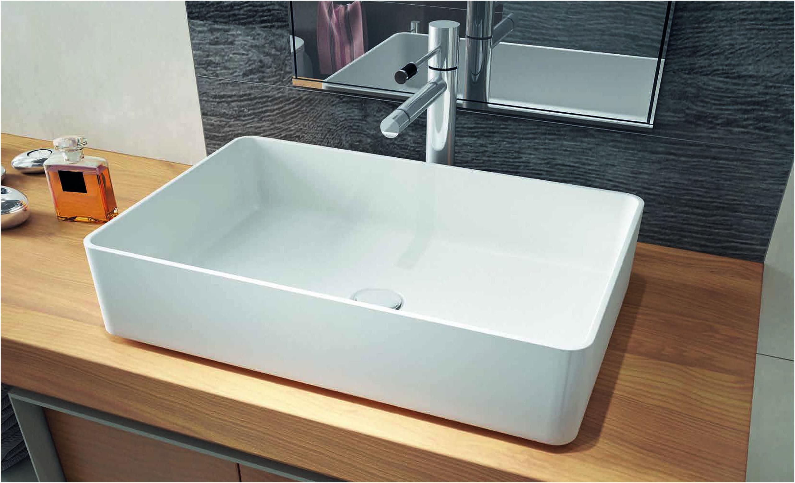 Wasbakken aqua linea badkamers