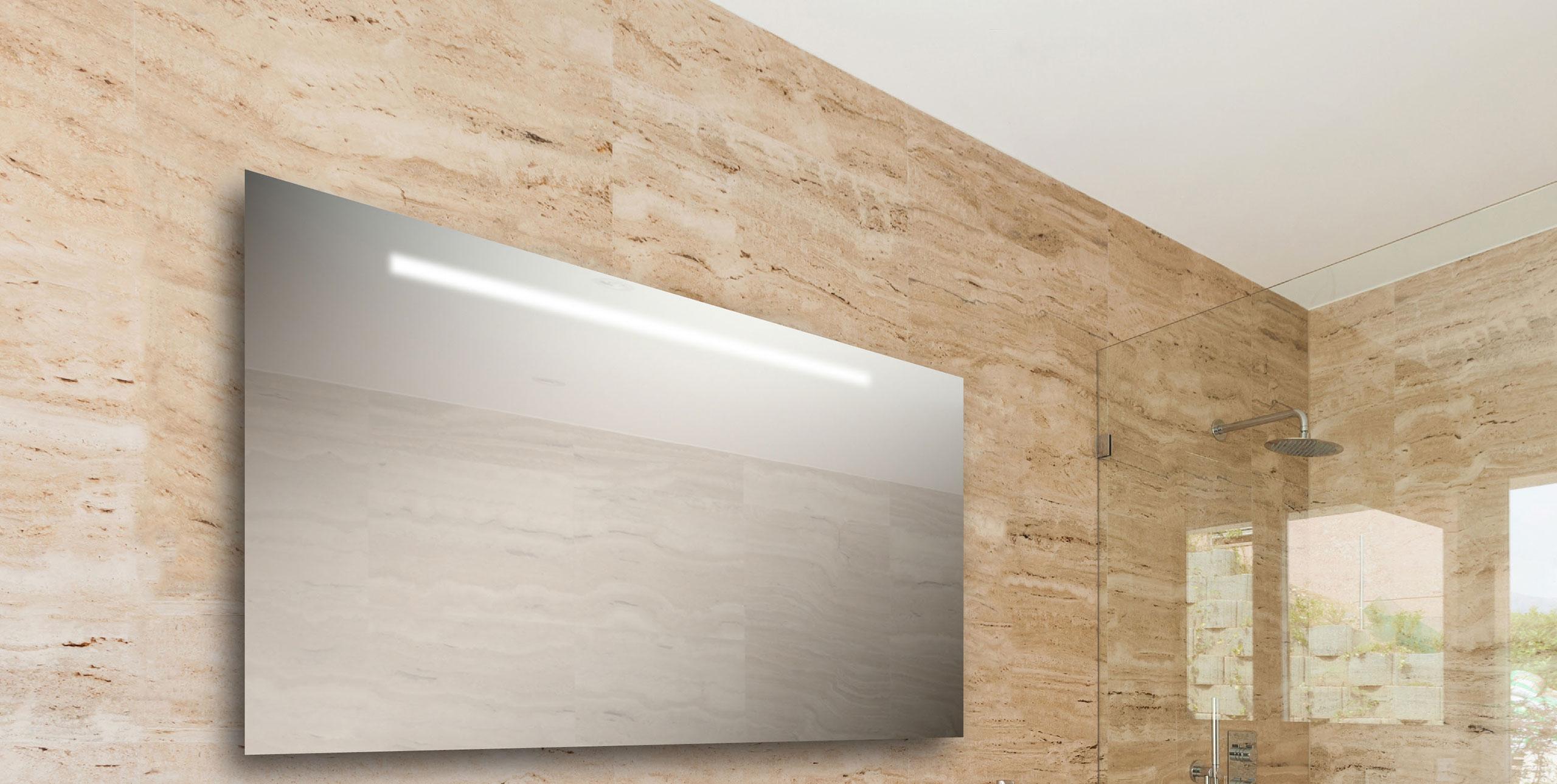 Badkamer spiegel amazing led spiegel met verwarming en sensor x