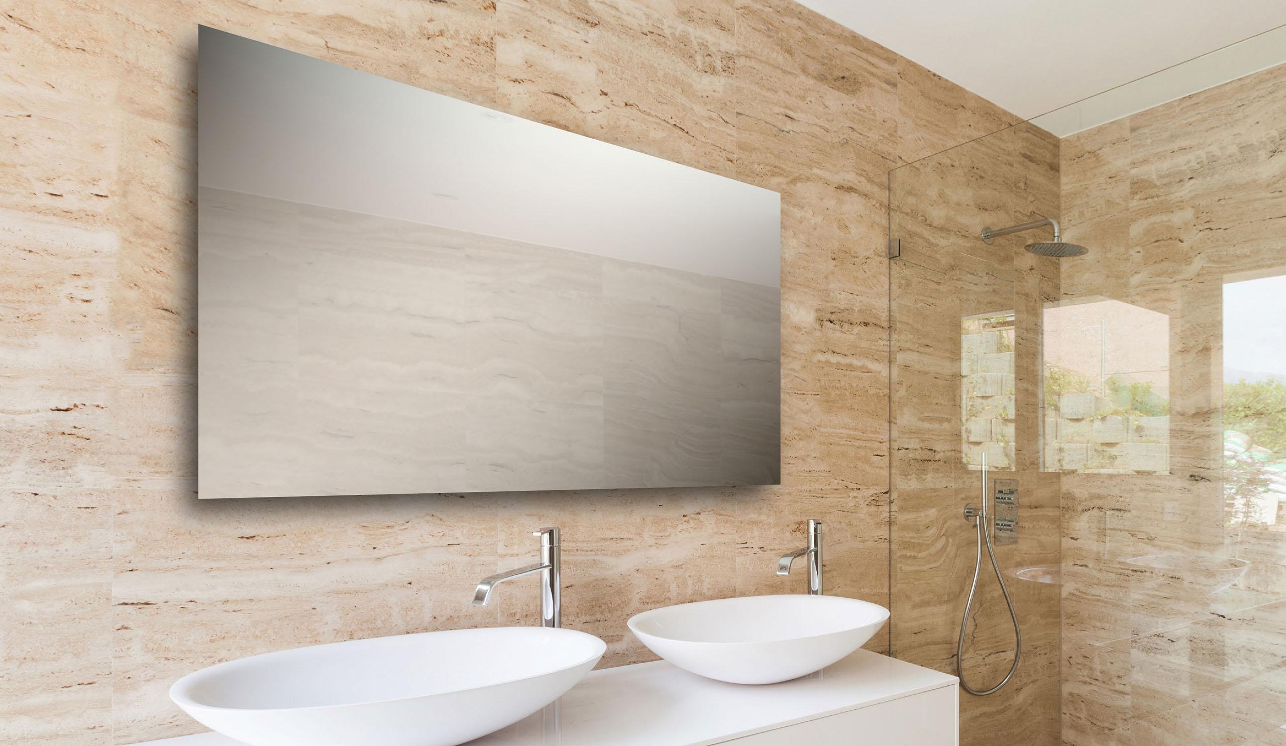 Badkamer Spiegel Verlichting : Spiegels aqua linea badkamers